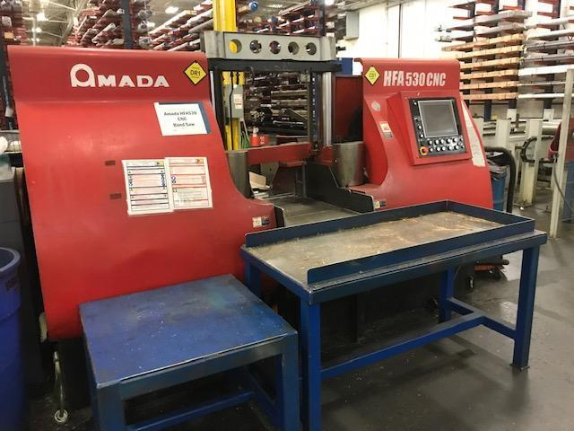 "21"" X 21"" AMADA HFA-530 CNC HORIZONTAL BAND SAW STOCK#2193"
