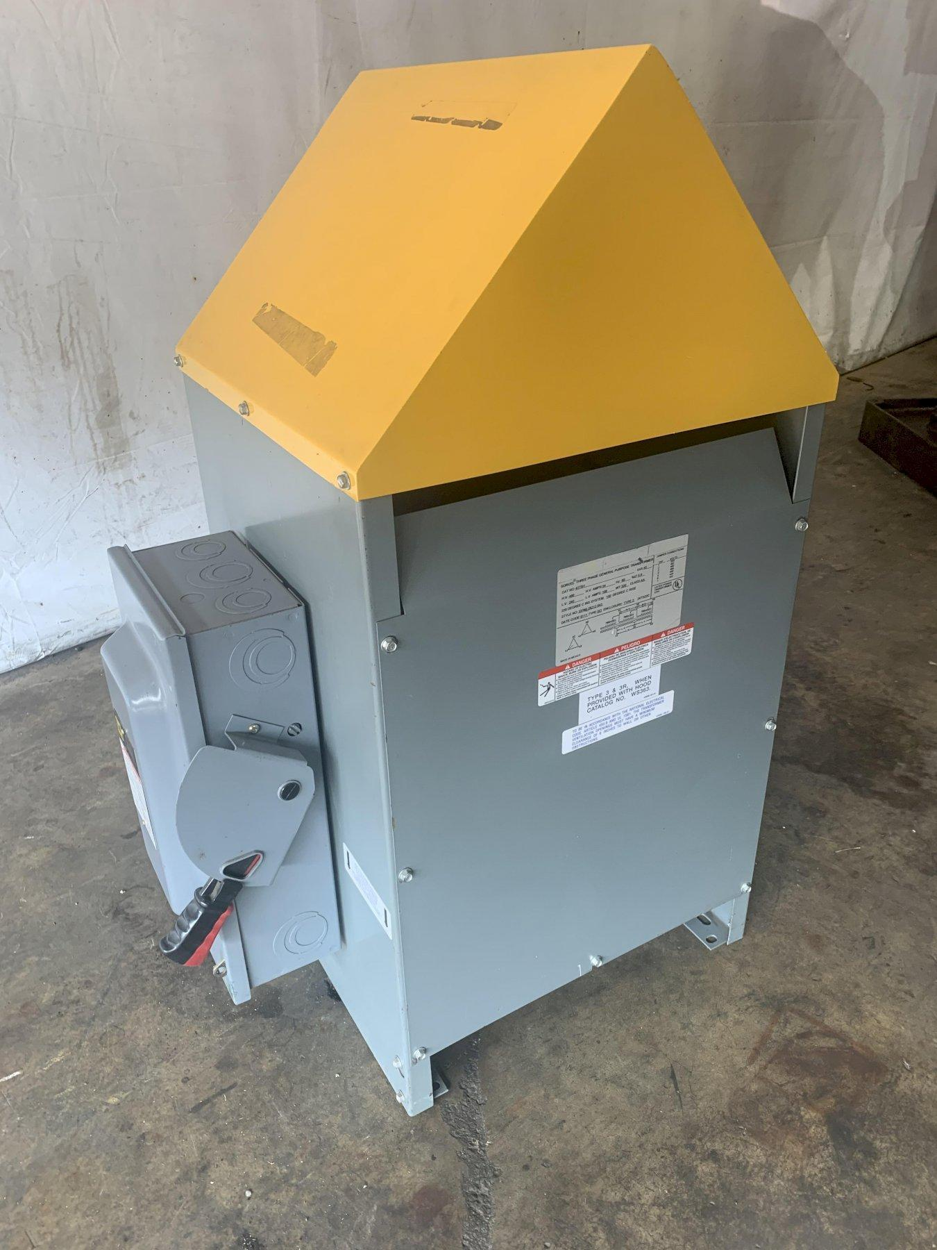 45 KVA SORGEL 480 / 240 VOLT THREE PHASE ELECTRICAL TRANSFORMER WITH 2 DISCONNECTS: STOCK 13695