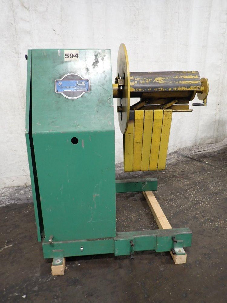 """(T) Coe Press Coil Reel And Straightener Combination 8,000 Lbs. x 12"""" Wide"""