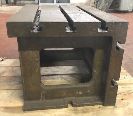 """Box Table For Radial Drill, 18"""" x 26"""" x 16"""" High, (3) T-Slots On Top, (2) T-Slots On Side, Nice"""
