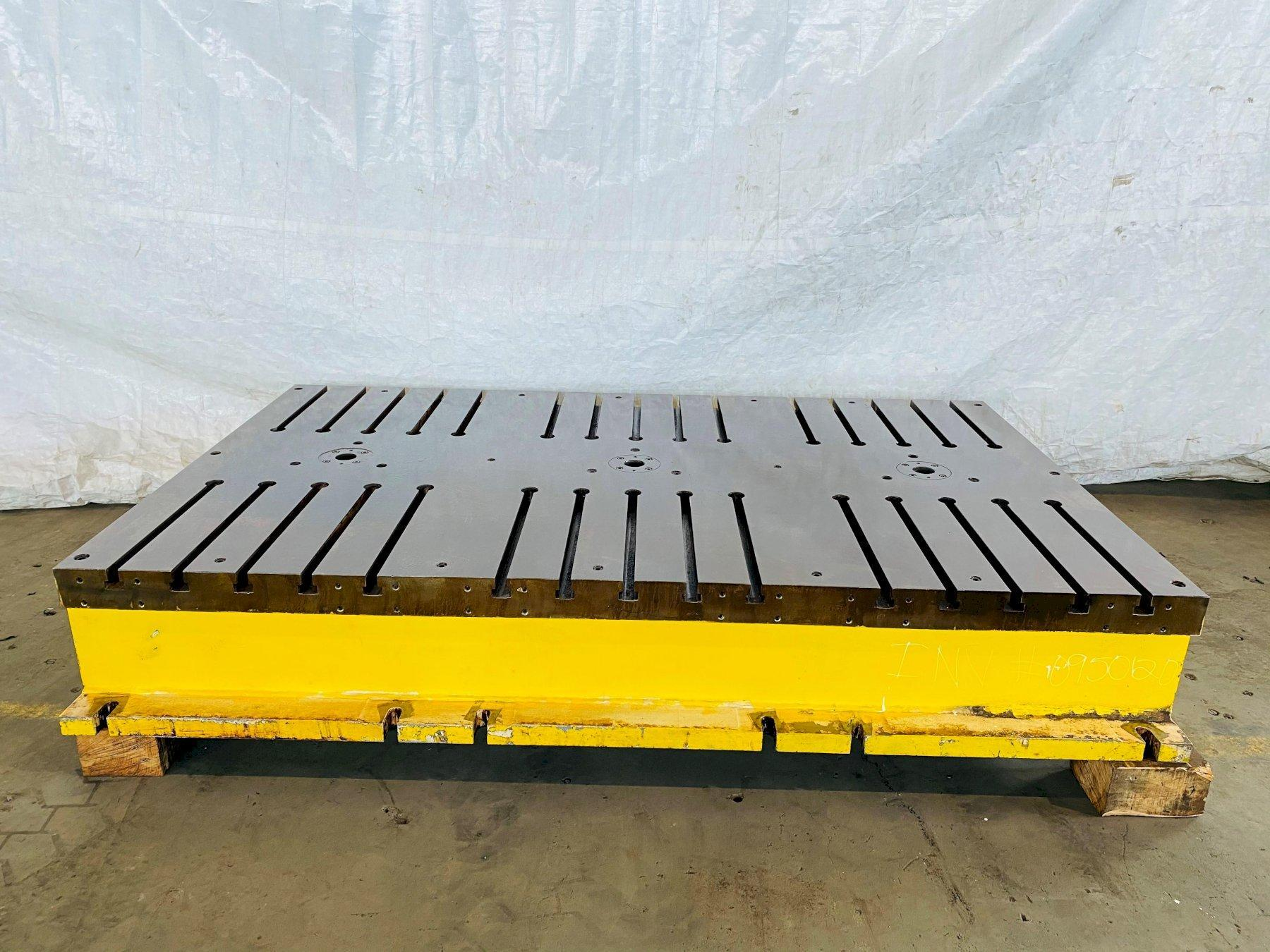 """65"""" X 107"""" X 16"""" T SLOTTED FLOOR PLATE. STOCK # 0950120"""