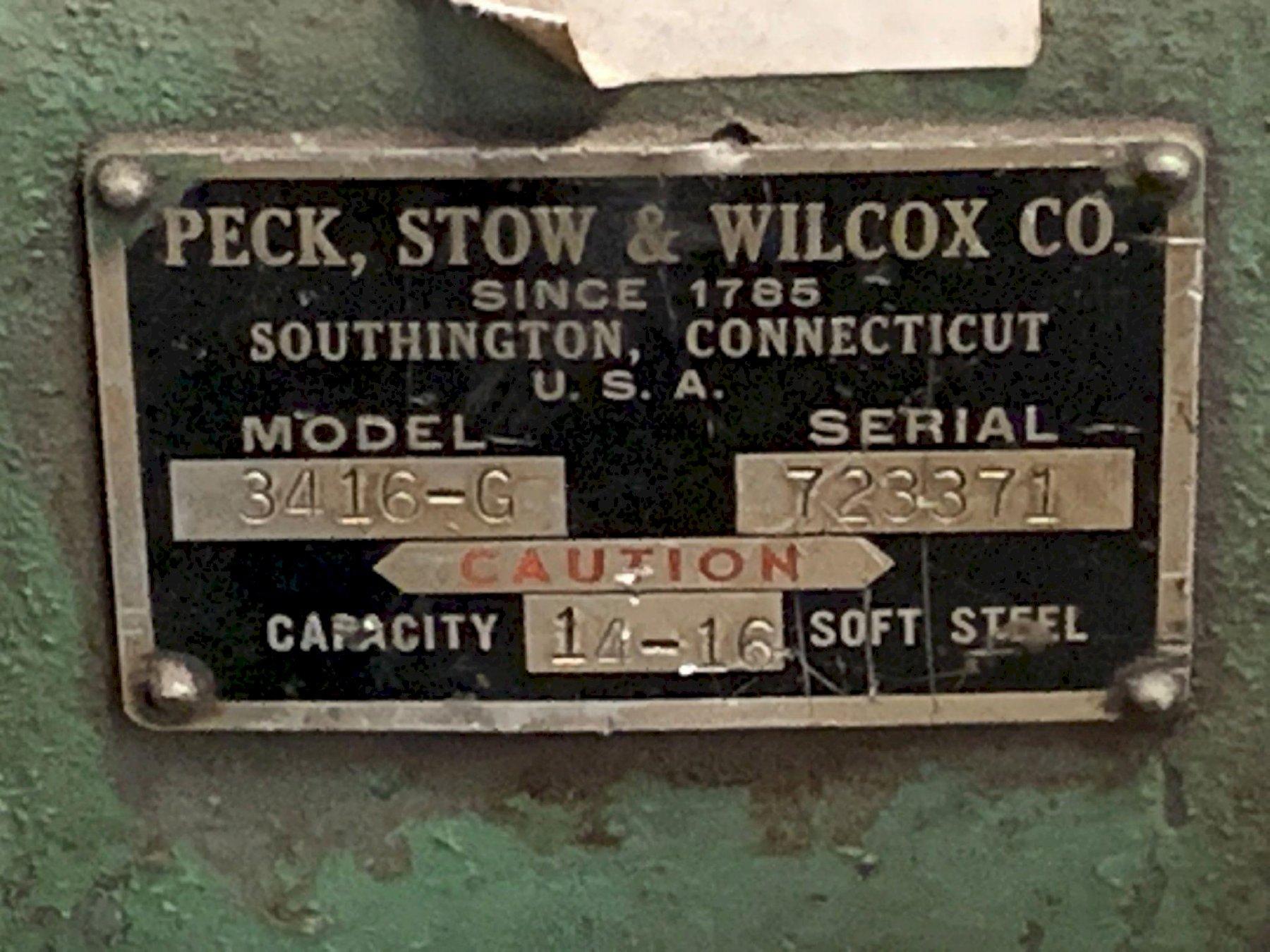 "36"" X 14 GA PECK STOWE & WILCOX PLATE ROLLS: STOCK #73566"