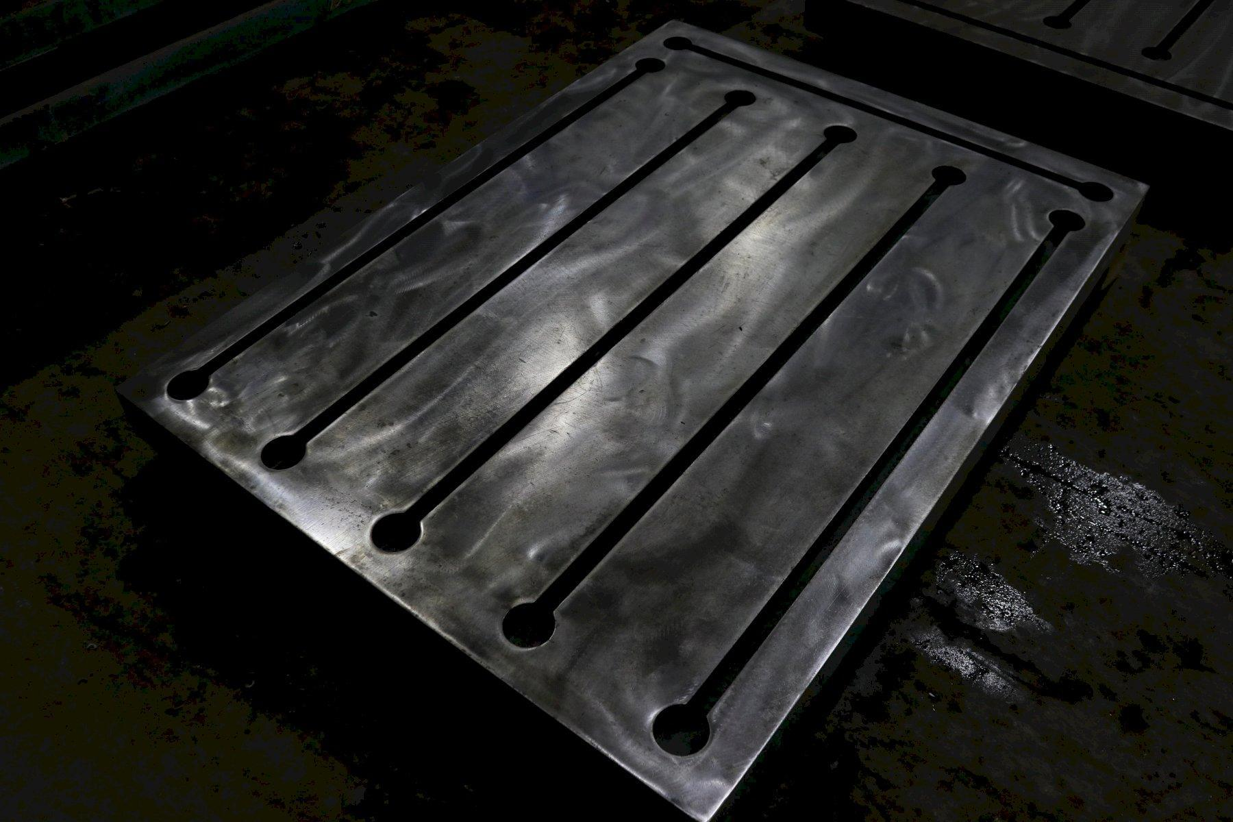 "43-1/2"" X 59"" X 4"" T SLOTTED STEEL LAYOUT PLATE: STOCK #73764"