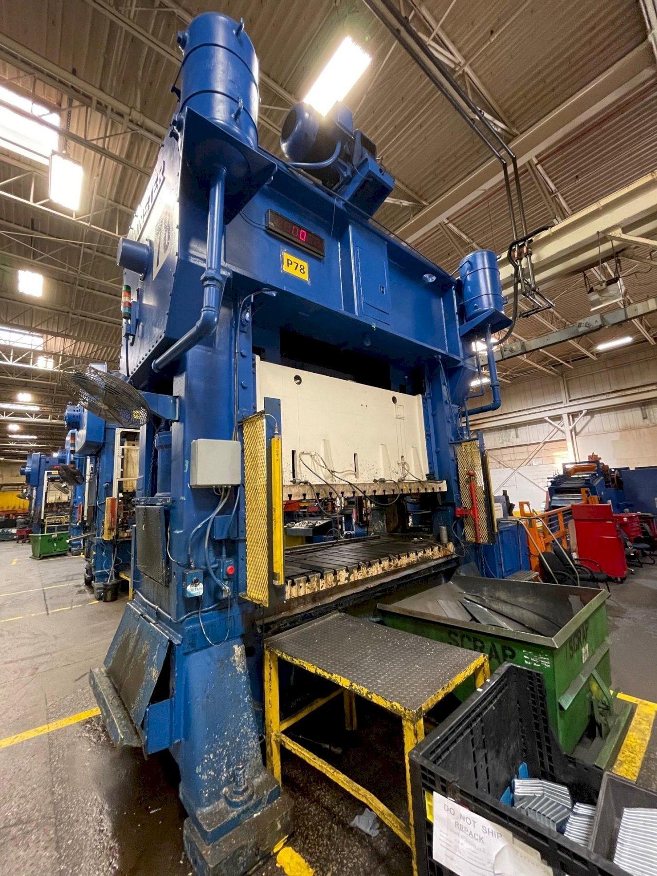 400 ton Minster E2-400-108-54 Hevi-Stamper Straight Side Press