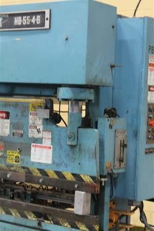 55 Ton x 6 ft. Niagara Hydraulic Press Brake Model HB-55-4-6