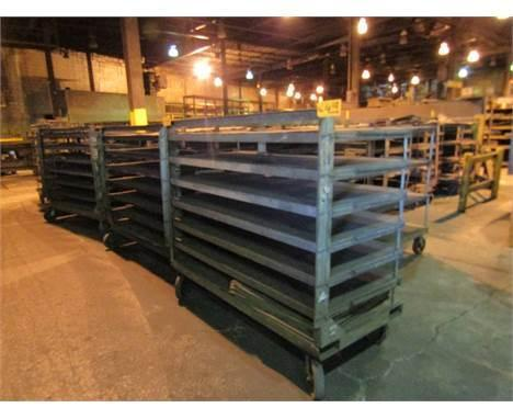 """20 available 7 shelf tip up type core racks approx. 36"""" x 72"""" priced each"""