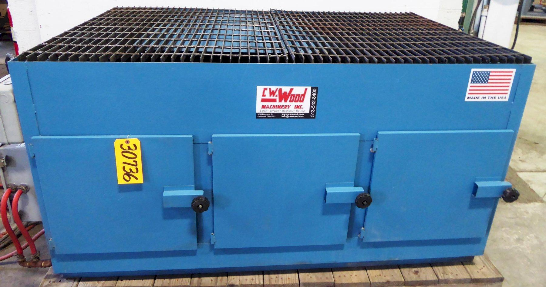 AIRFLOW Down Draft Table No. DT3000-AC, 3000 CFM, 3 HP, 66″ x 42″ Tbl., Cartridge Filters, 1998