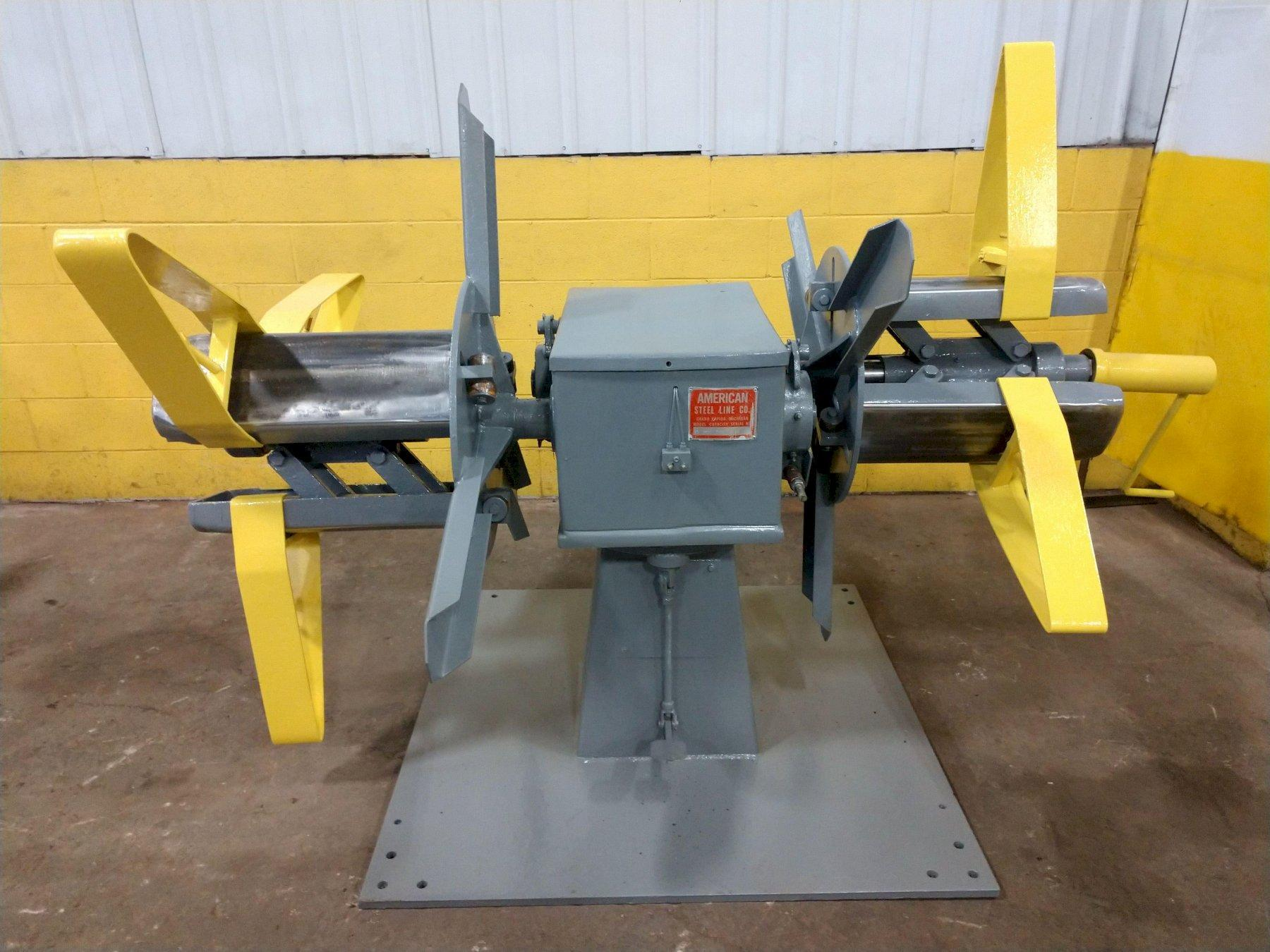 "2500 LB X 18"" AMERICAN DOUBLE END NON MOTORIZED COIL REEL UNCOILER: STOCK  #14167"