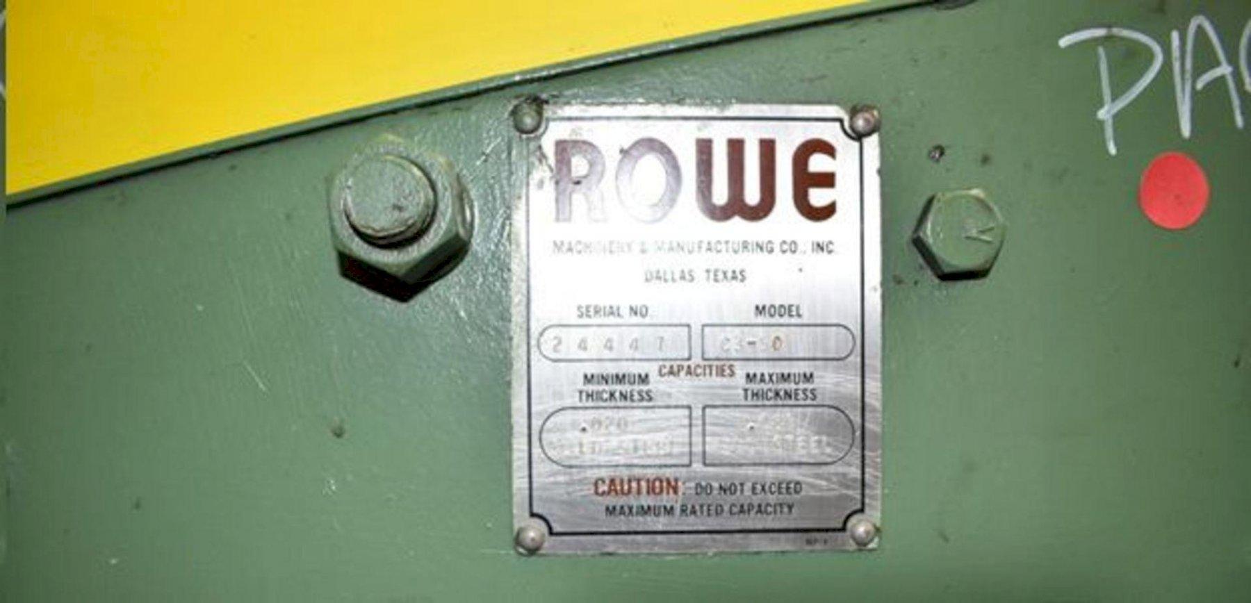 "50"" X 0.085"" ROWE MODEL C3-50 AIR POWER STRAIGHTENER. STOCK # 0738424"