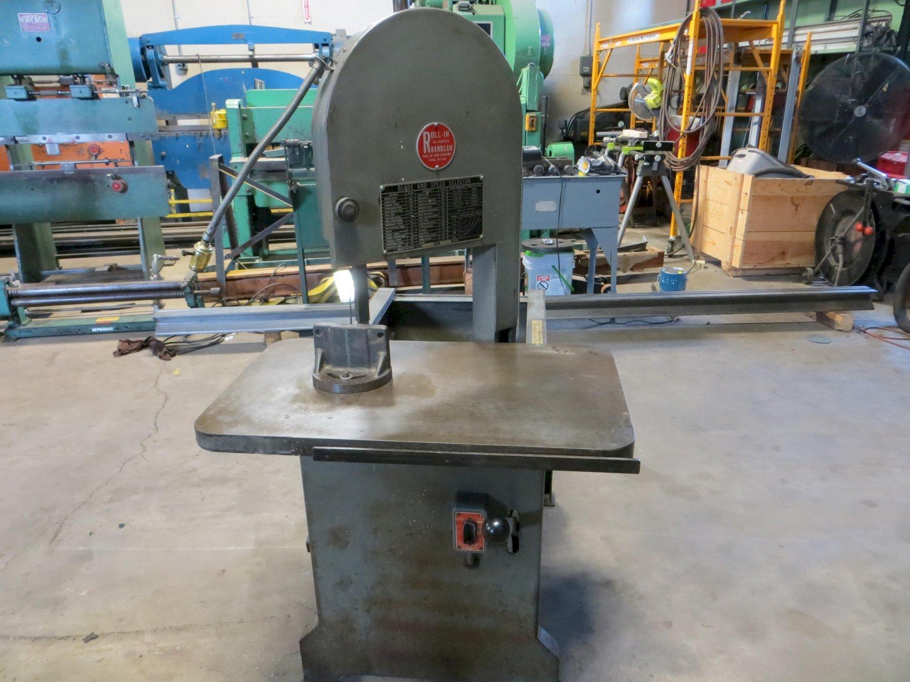 "8-3/4"" Throat, Roll-In Vertical Band Saw Model E-1459"