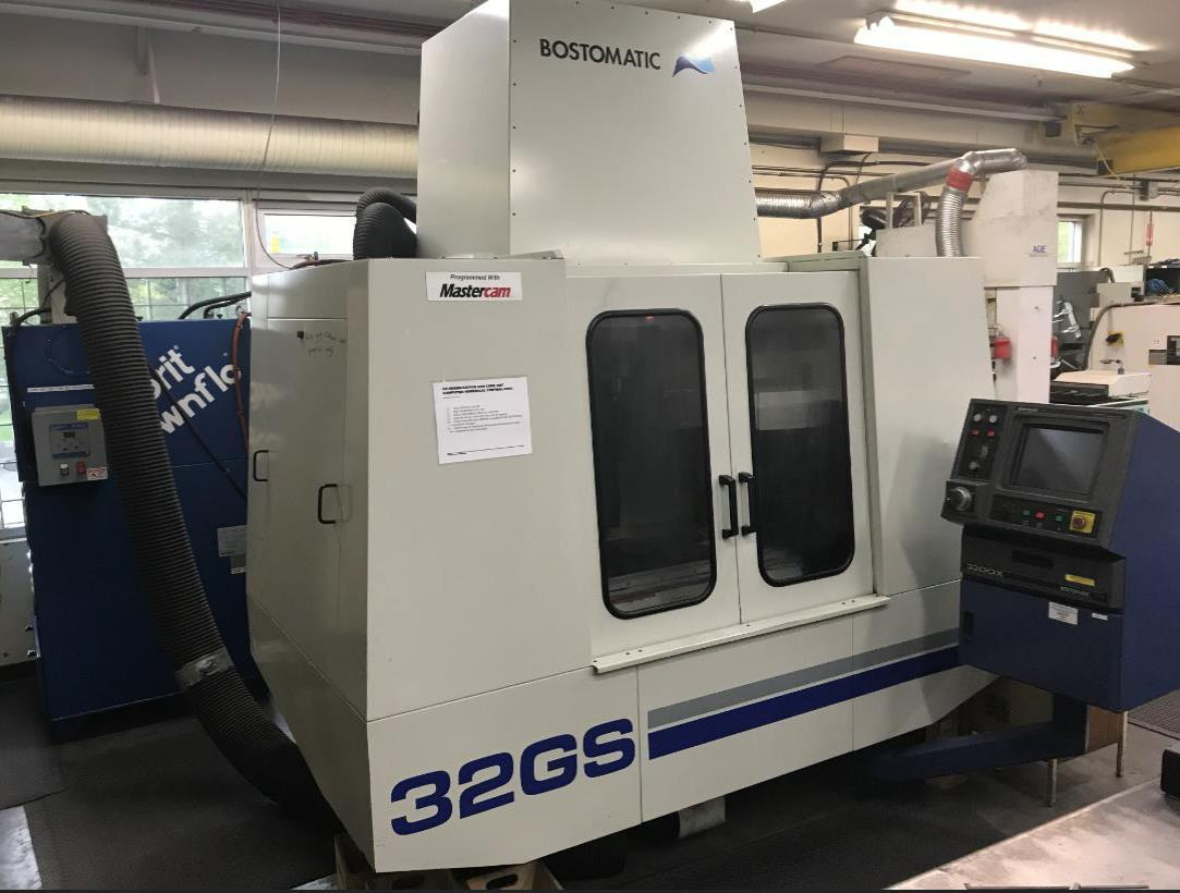 "Bostomatic BD32 Graphite CNC VMC, 2000; 31"" x 16"" x 20"", 30K RPM, 10HP, Torit Dust Collector, Filters, (15) Tool Holders, Collets, & More!"
