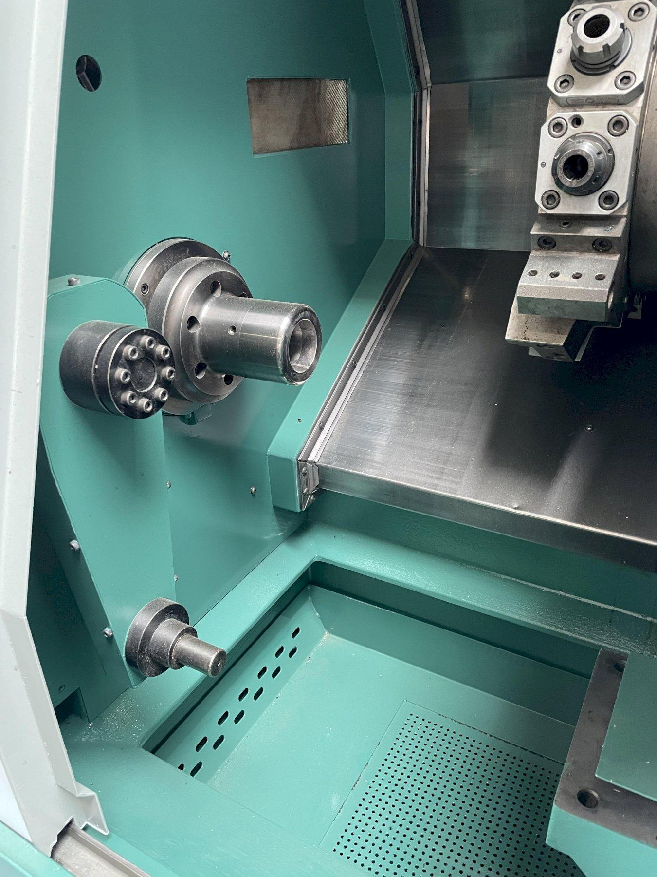 Nakamura Tome SC-150 CNC Turning Center 1999 with Fanuc 21iT CNC Control, Live Tooling, Collet Nose,  No Chuck.