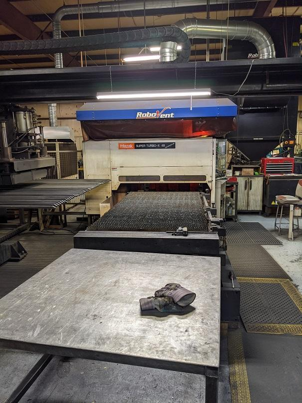 2007 Mazak STX48 Champion, 4x8, 1300 Watt Co2 CNC Laser