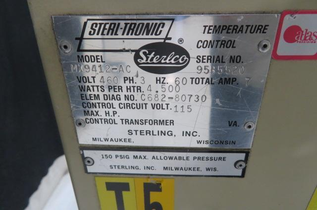 Sterlco Used MX9412-ACX  Water Mold Temperature Controller, .5hp, 4.5kw, 460V