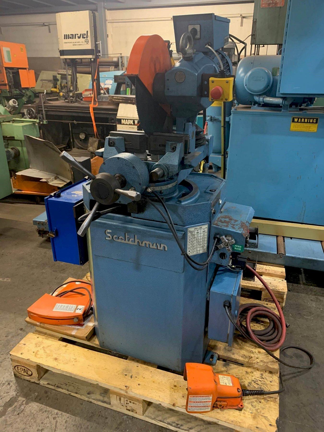 USED SCOTCHMAN SEMI-AUTOMATIC 2-SPEED CIRCULAR COLDSAW MODEL CPO 350 LTPKPD,  Stock # 10821, Year 2017