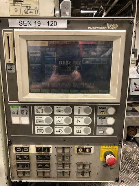 Toshiba Used ISG120N Injection Molding Machine, 120 US ton, Yr. 1998, 4.1 oz