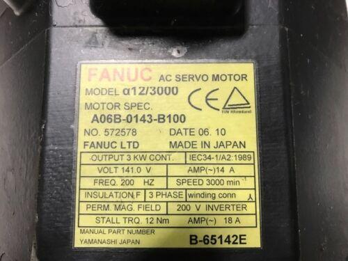 FANUC Servo Motor A06B-0143-B100