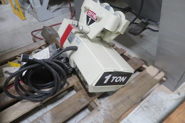 Coffing Used ECT2016 Hoist, 1 ton capacity, 1hp, 110V