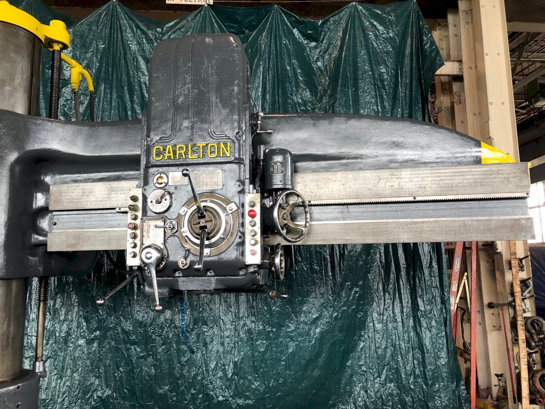 "8' X 19"" CARLTON RADIAL ARM DRILL. STOCK # 1019319"