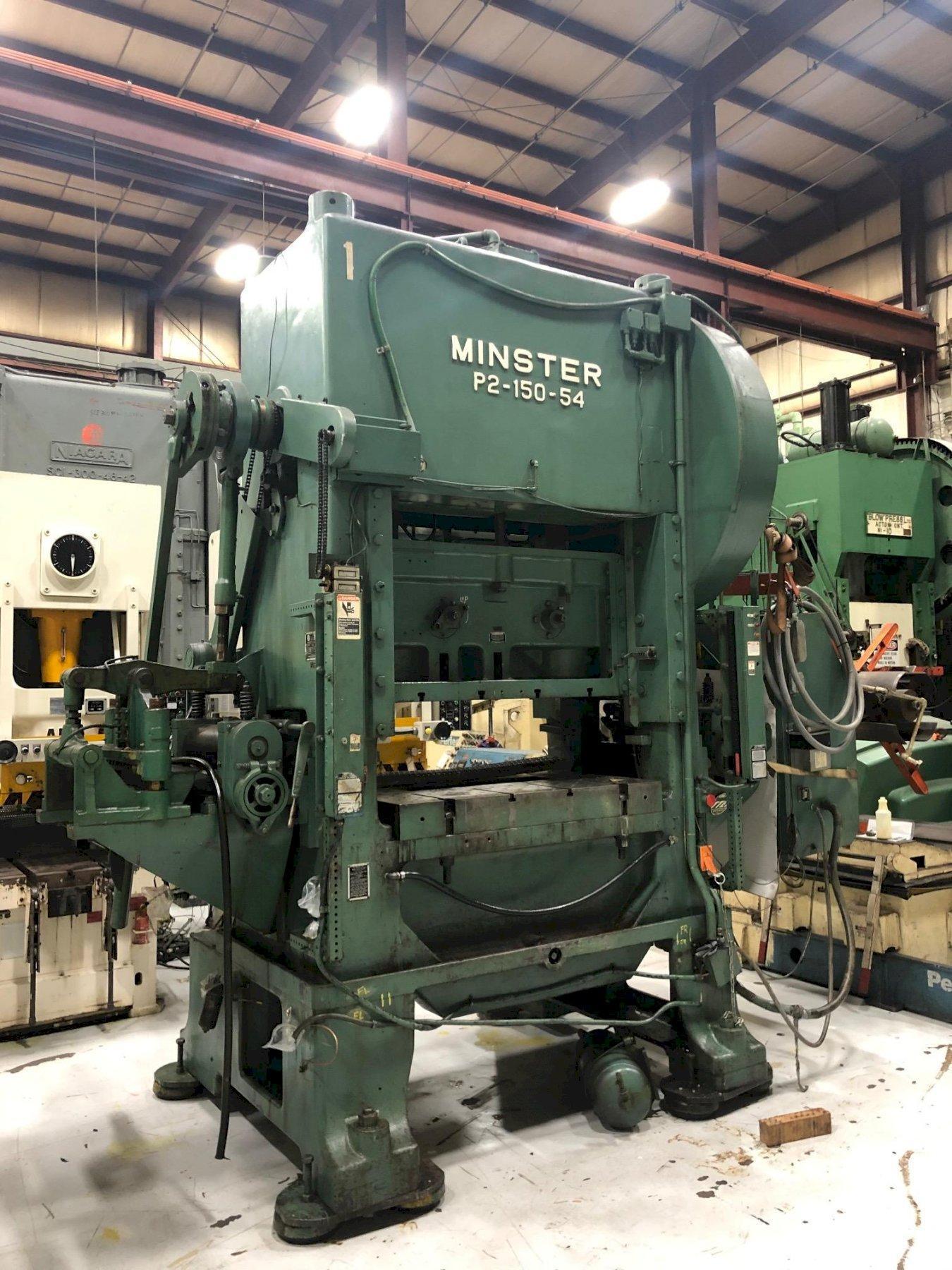 "150 Ton MINSTER P2-150-54 ""Piece-Maker"" Straight Side Press"