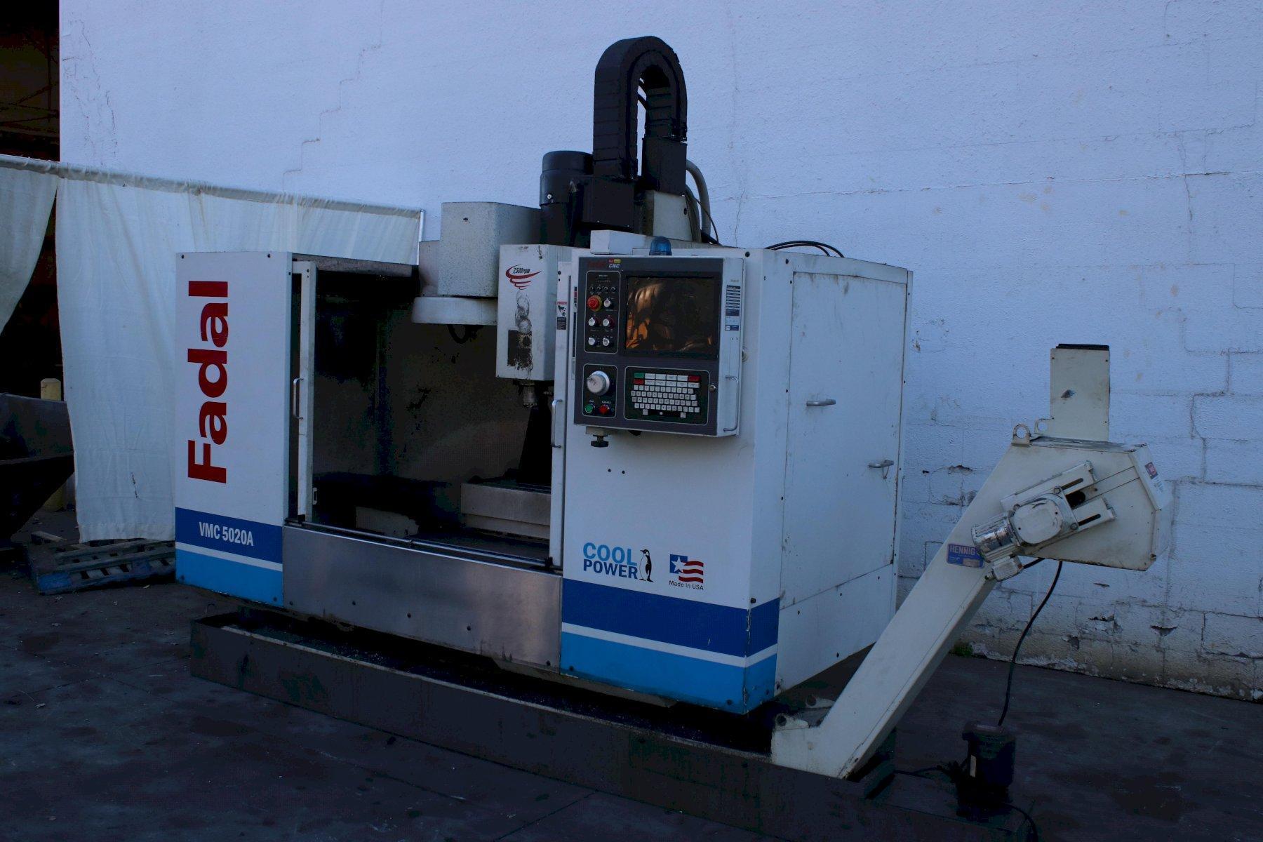FADAL MODEL #5020 CNC VERTICAL MACHINING CENTER: STOCK #74476