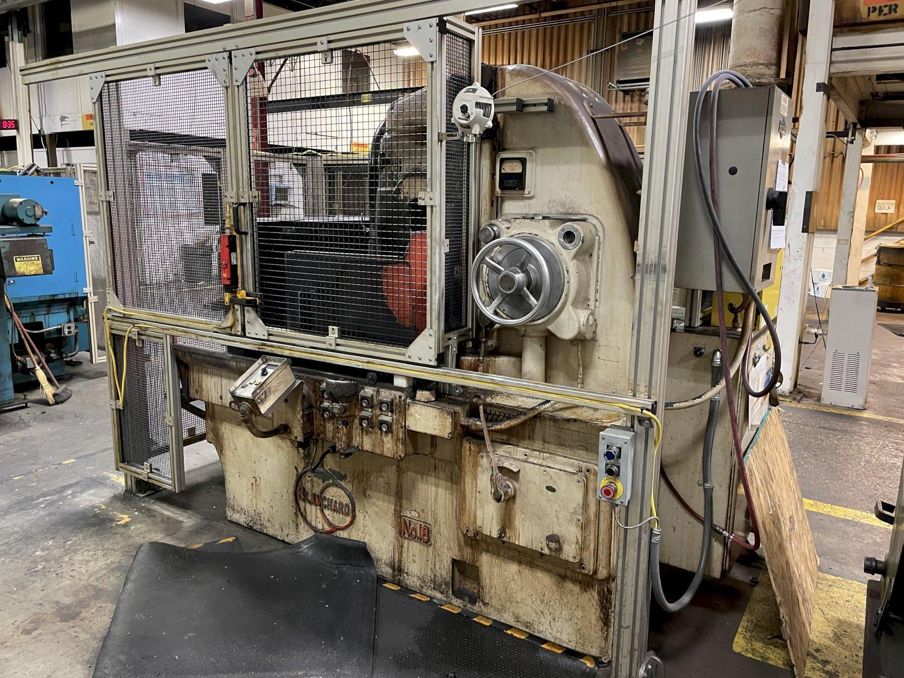 "36"" BLANCHARD MODEL #18 ROTARTY SURFACE GRINDER: STOCK #14452"