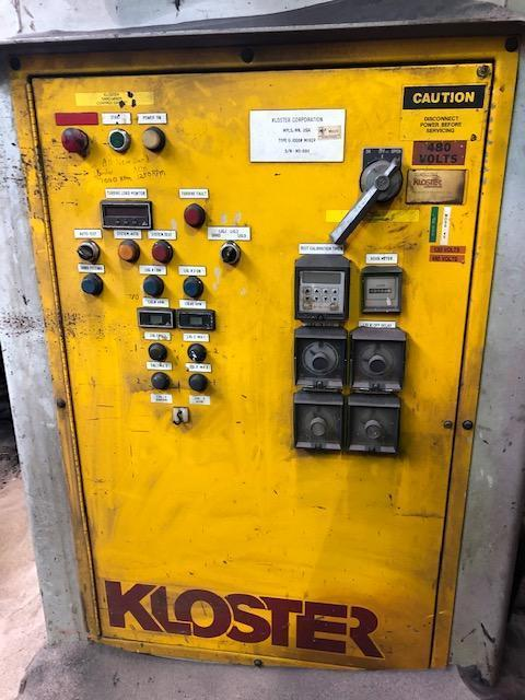 KLOSTER TYPE II 1000# PER MINUTE CONTINUOUS MIXER S/N MS-6911 WITH CONTROLS AND PUMPS