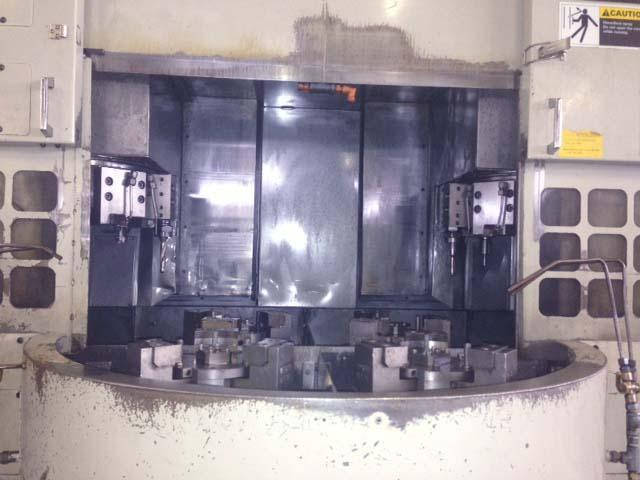 "KITAKO VT4-350, Fanuc 18TB CNC, 4 Spindle Vertical Turning Center, (4) 12"" Chucks, 13.8"" Max Turning Diameter, New 1999."