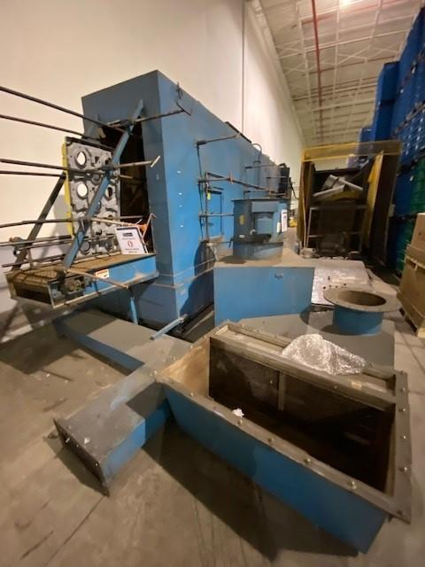 """24"""" X 50"""" DUNNAGE WASH SYSTEMS STAINLESS STEEL PASS THRU CONVEYOR WASHER: STOCK #14892"""
