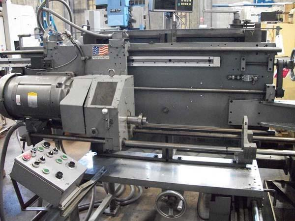 """3/4"""" x 18"""" ELDORADO Double Spindle Gun Drilling System Model M75-1063, (2) 12"""" x 14"""" Slide Tables, 3/4: x15"""" Max Drilling Capacity, High Pressure Coolant Systems, New 1985."""