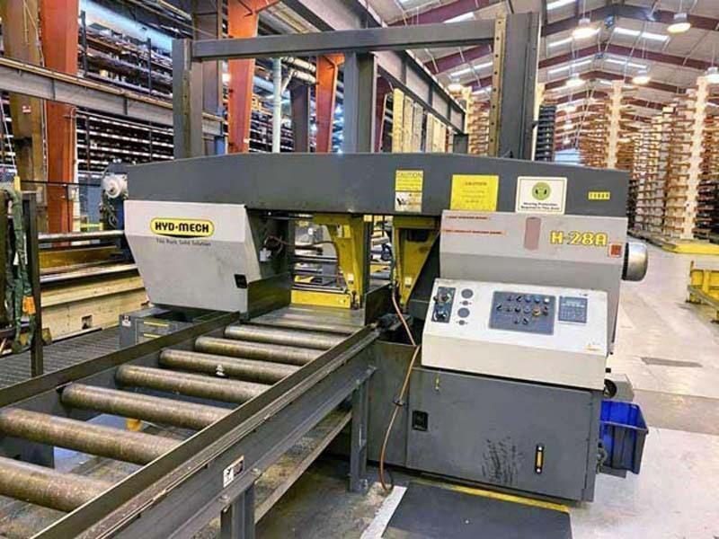 """28"""" x 28"""" HYDMECH H-28A AUTOMATIC HORIZONTAL BAND SAW (please call or request quote for more info)"""