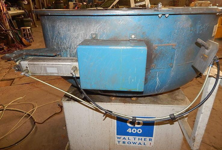USED WALTHER TROWAL MODEL CD 400 8.83 CU. FT. VIBRATORY BOWL, Stock # 10808, Year 2001
