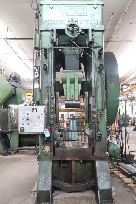 600 TON VERSON #600K-T30 KNUCKLE JOINT PRESS: STOCK #13296