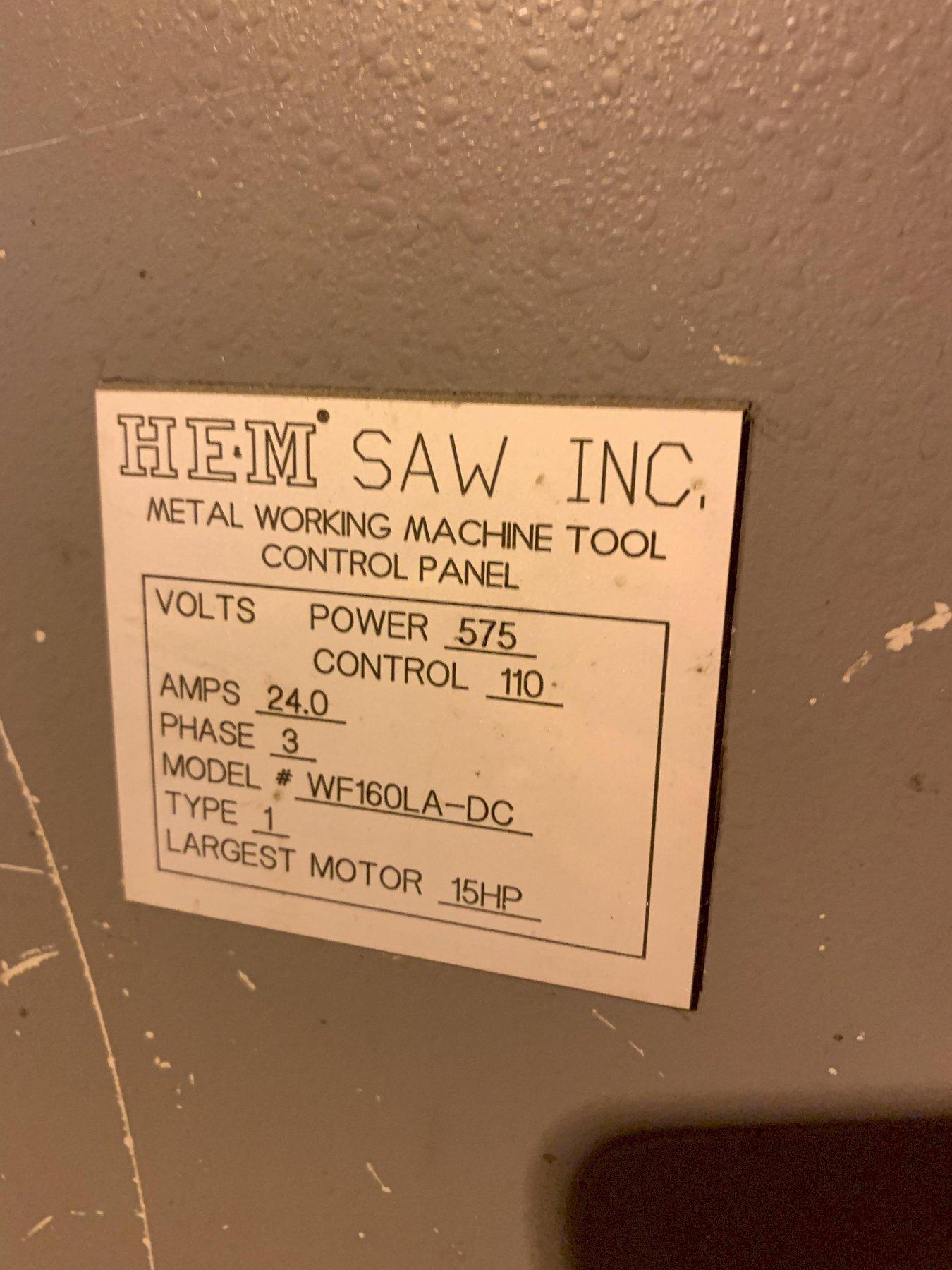 """30"""" x 25"""" Hem Model WF160LA-DC Automatic Bandsaw"""
