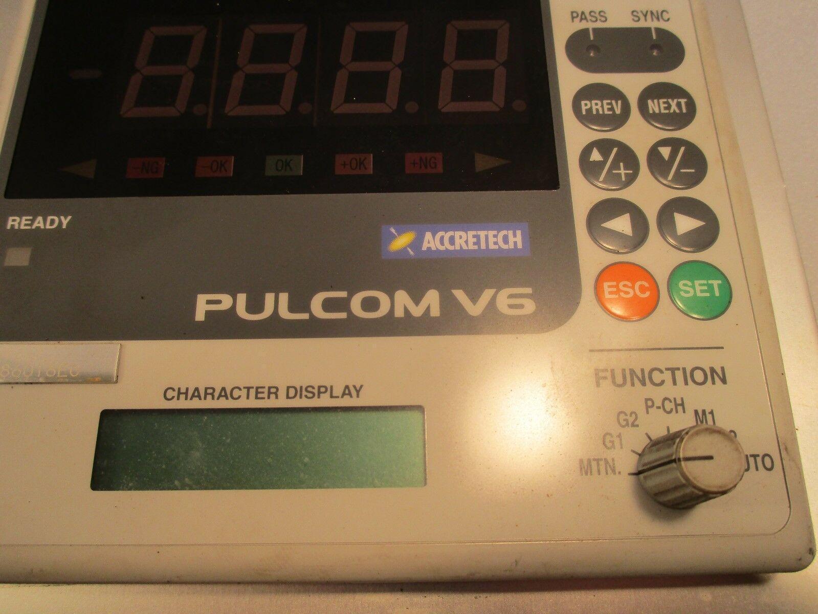 Accretech Pulcom V6 Flexible Electronic Micrometer Readout Panel Control Box