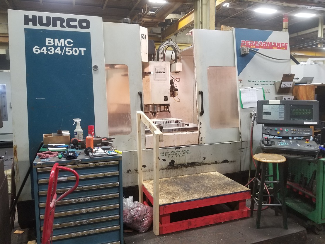 Hurco BMC-6434/50 CNC Vertical Machining Center with 50 Taper 8k RPM Spindle