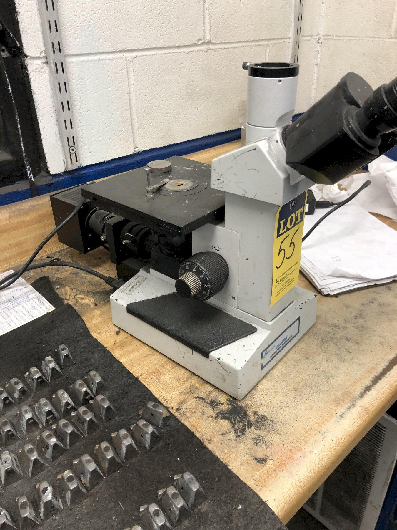 BUEHLER VIEWMET TOP MOUNTED MICROSCOPE WITH VIDEO AND LIGHT SOURCE