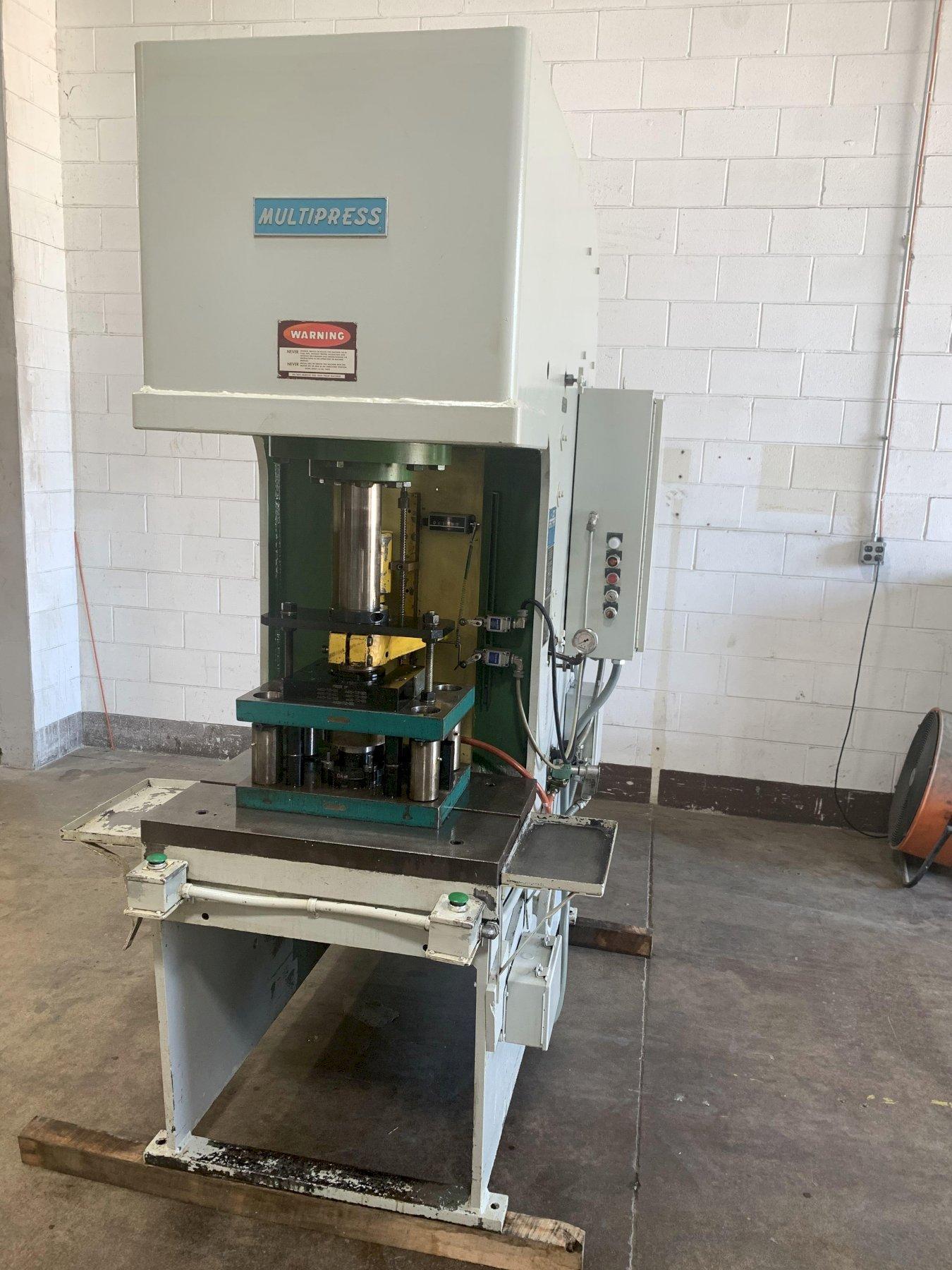 35 Ton Denison Multipress Model FL-35-30H Floor Type C-Frame
