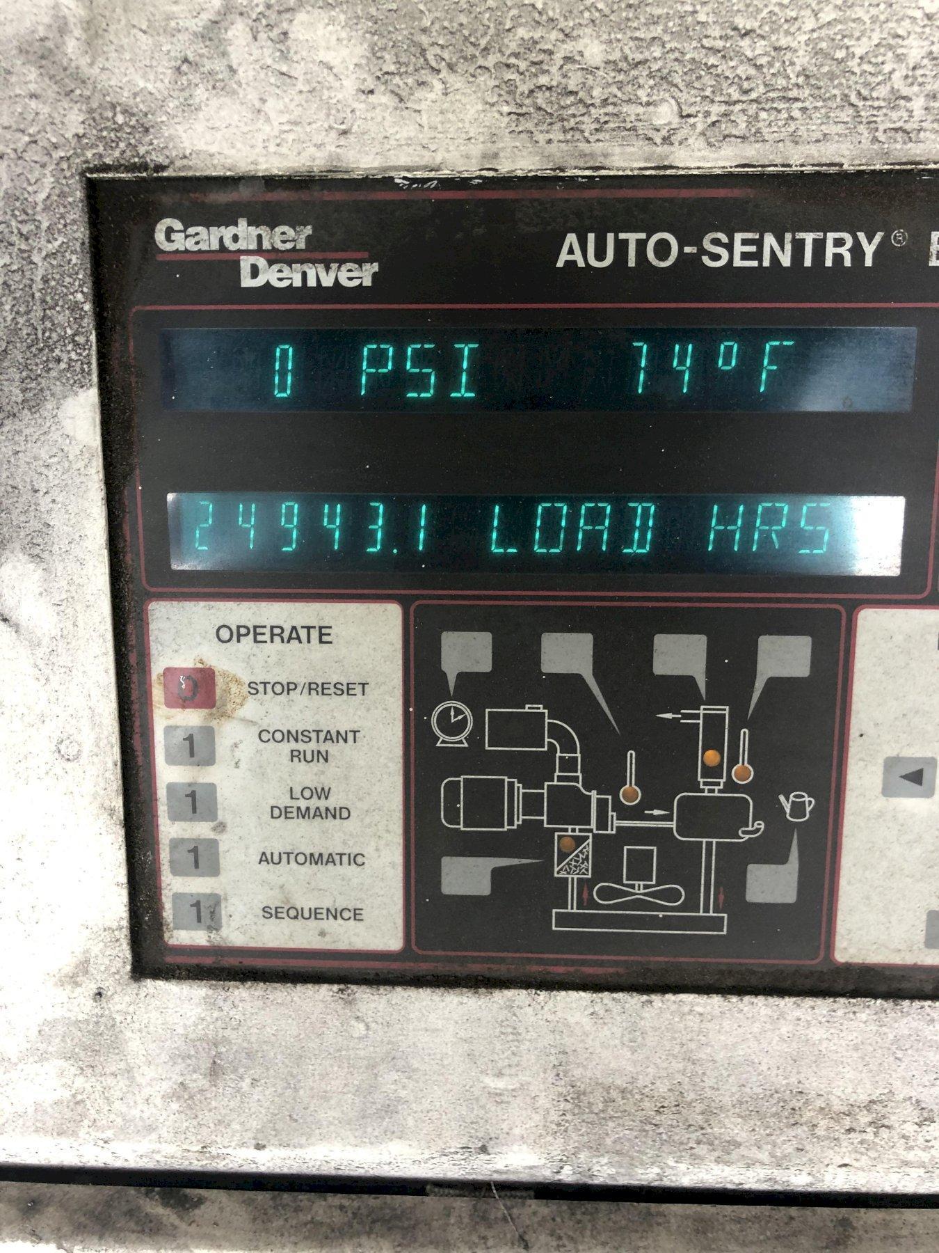 2001 GARDNER DENVER MODEL EBH99D209 ELECTRASAVER II 150HP AIR COOLED AIR COMPRESSOR S/N S104457