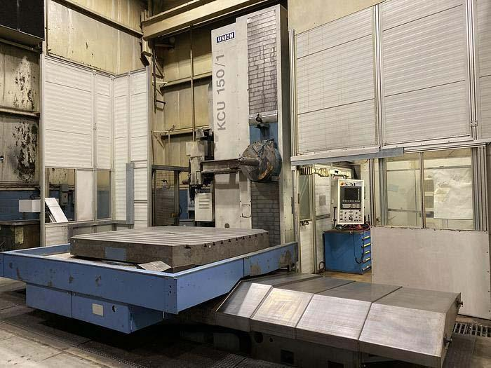 """6"""" UNION PLANER TYPE CNC BORING MILL, Model KCU150, X=126"""",Y=118"""",X=59"""", Quill=30"""", CNC Facing Head, Cat-50, 60 Station Tool Changer, New 2010."""