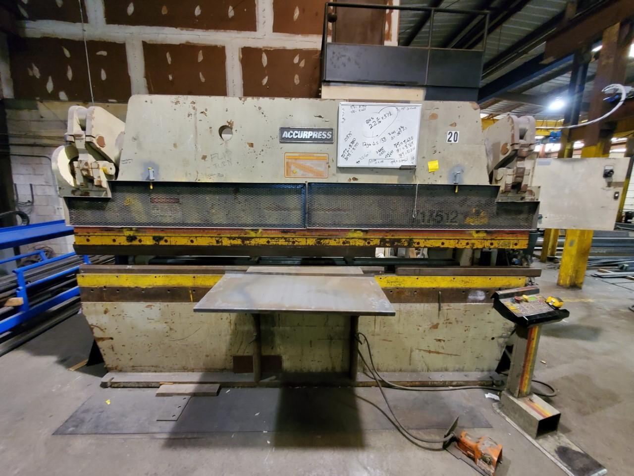 1999 Accurpress 17512, 12' x 175 Ton CNC Hydraulic Press Brake