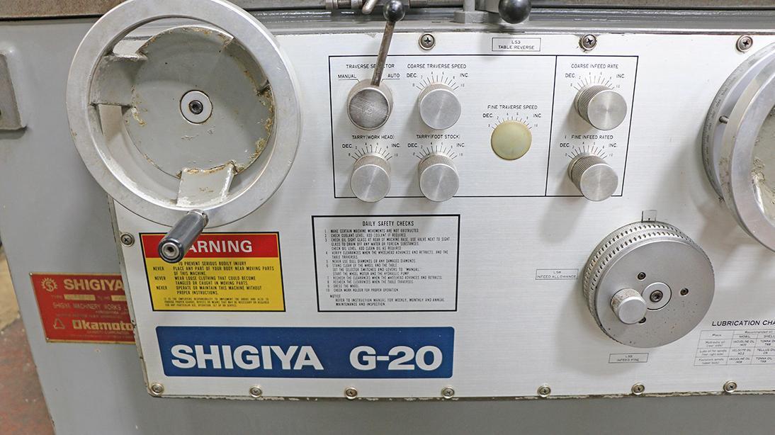 "8"" X 20"" SHIGIYA ""G-20"" SERIES HIGH-PRECISION ""JAPANESE""  MODEL GUA-20-50 UNIVERSAL I.D./O.D. CYLINDRICAL GRINDER"