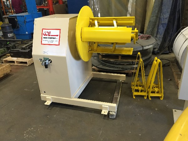 "(S) COE PRESS Pull Off Coil And Straightener Combination 4,000 Lbs. x 12"" Wide x .125"""