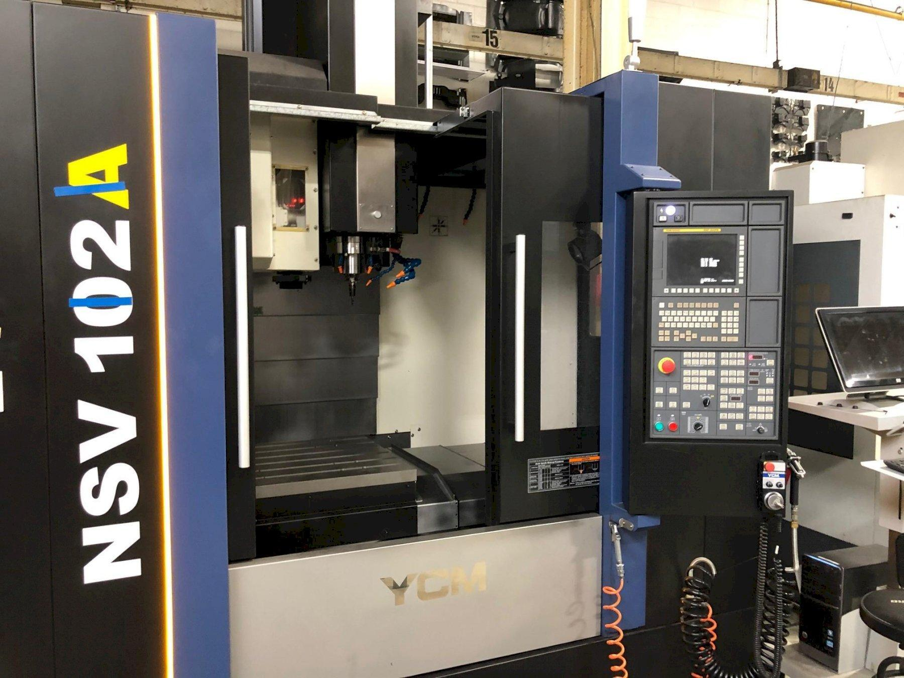 YCM NSV-102A CNC Vertical Machining Center, Fanuc MXB-200FB, 40