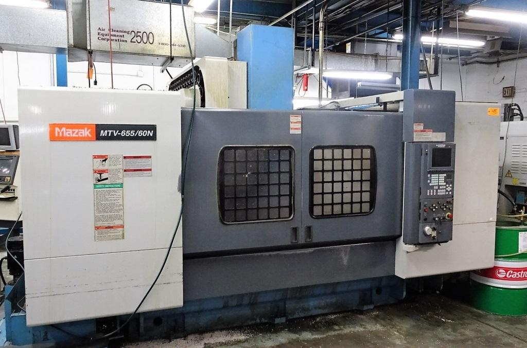 Mazak MTV655/60 CNC Vertical Machining Center, Fusion 640M, 4400 Lb Table Capacity, 59