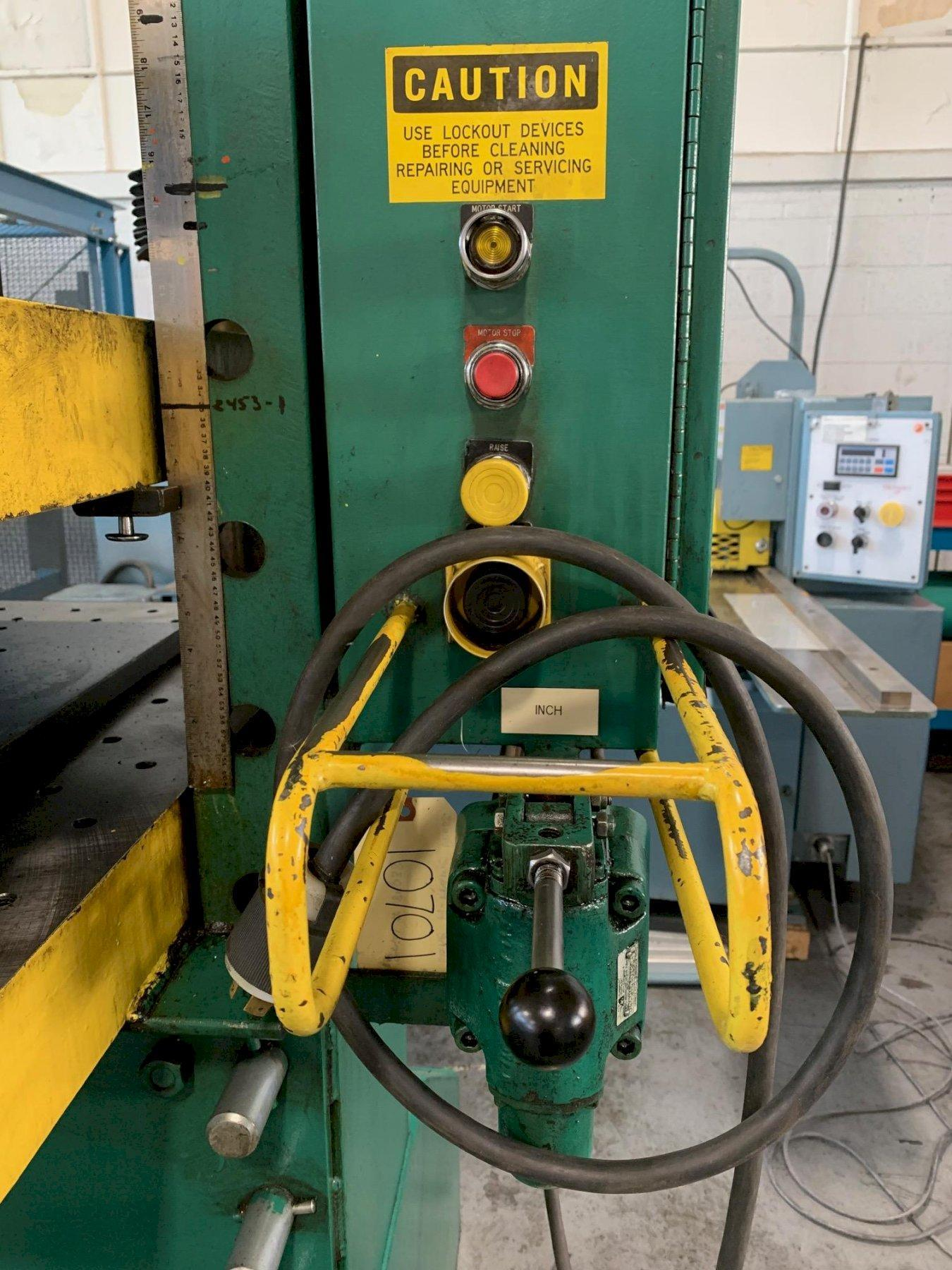 USED DAKE HYDRAULIC 75 TON H-FRAME PRESS, Stock # 10701, Year 1989
