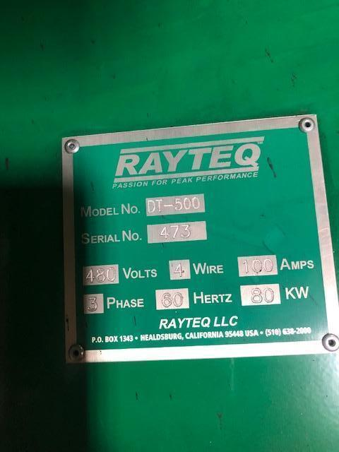 RAYTEQ MODEL DT500 500# PER HOUR MELT RATE ELECTRIC LADLE WITH POWER SUPPLY S/N 473, 1500# CAPACITY