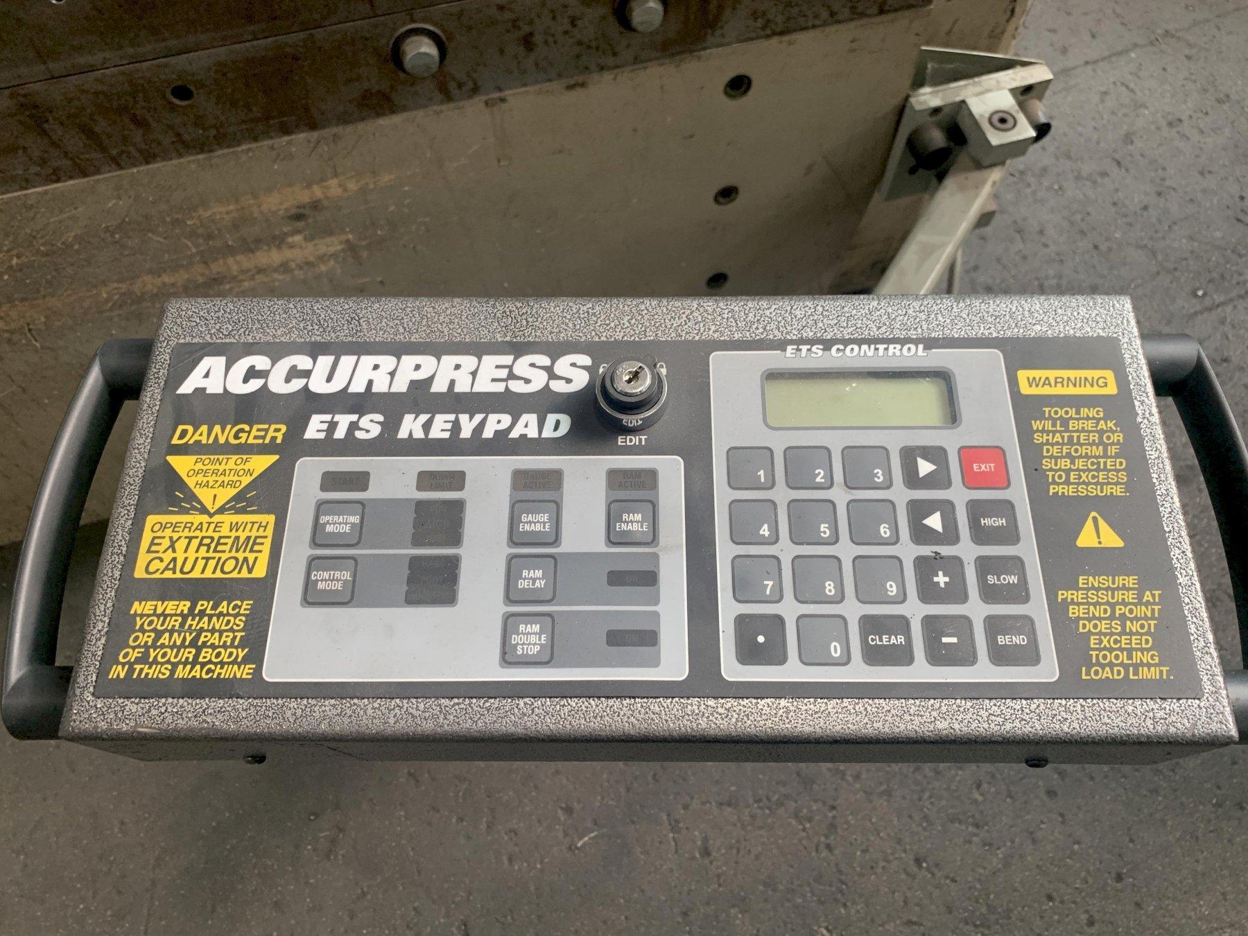 6' X 60 TON CNC ACCURPRESS MODEL 7606 HYDRAULIC PRESS BRAKE