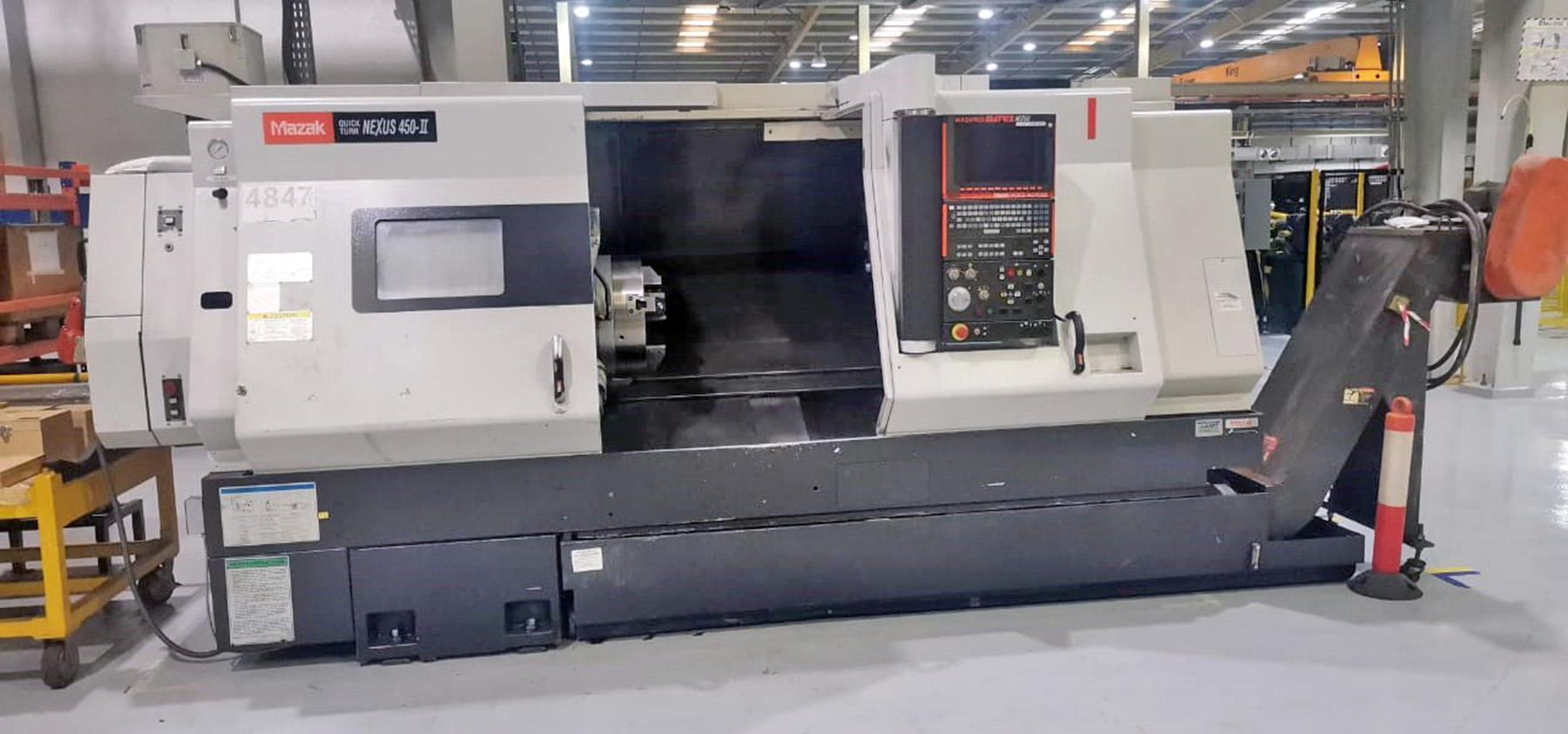 USED, MAZAK QUICK TURN NEXUS 450-II CNC TURNING CENTER