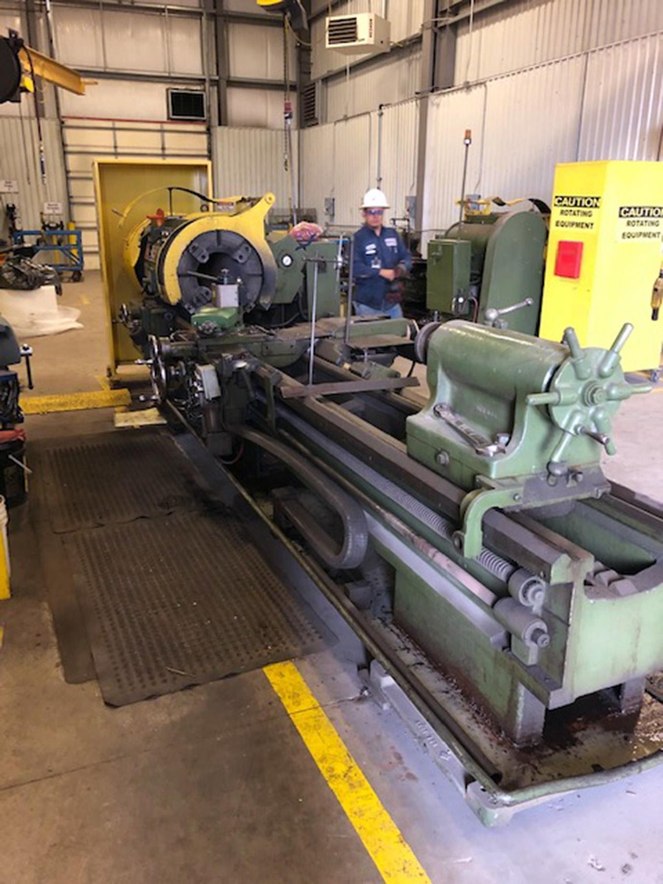 "USED, 27"" X 120"" LEHMANN MODEL 2516 HOLLOW SPINDLE LATHE WITH 12"" SPINDLE BORE"